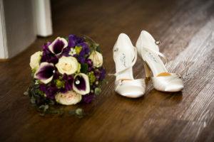 Brautstrauß Brautschuhe Getting Ready