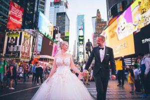 Hochzeit Times Square